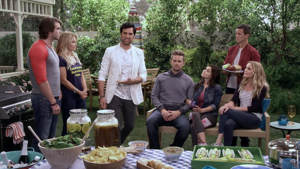 Fuller House annual BBQ with Matt and Steve's new girlfriends.