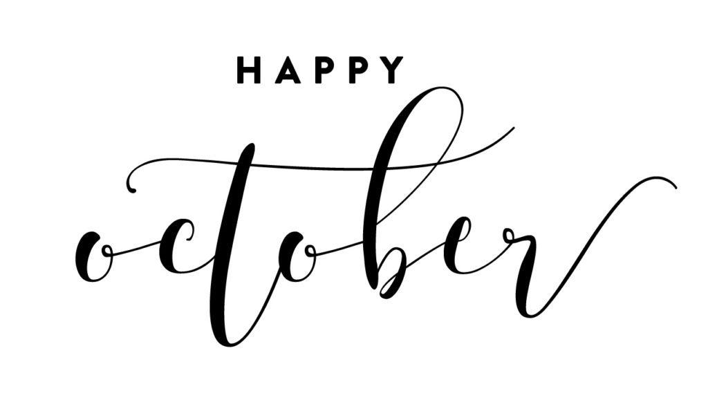 Happy October graphic